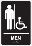 braille mens accessible