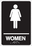 braille womens sign