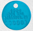 dog cat license tag 9