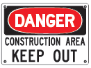 danger keep out sign