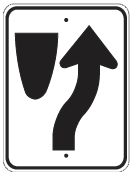 keep right of median sign