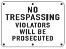 property protected sign