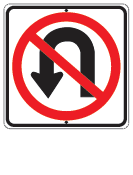 no uturn sign