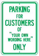parking for customers your wording