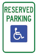 reserved parking icon sign