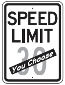 speed limit you choose