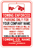 towing enforced sign