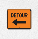 left detour ahead