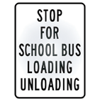 stop for bus loading sign