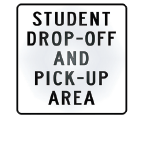 student drop off area