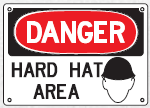 hard hat area sign 2