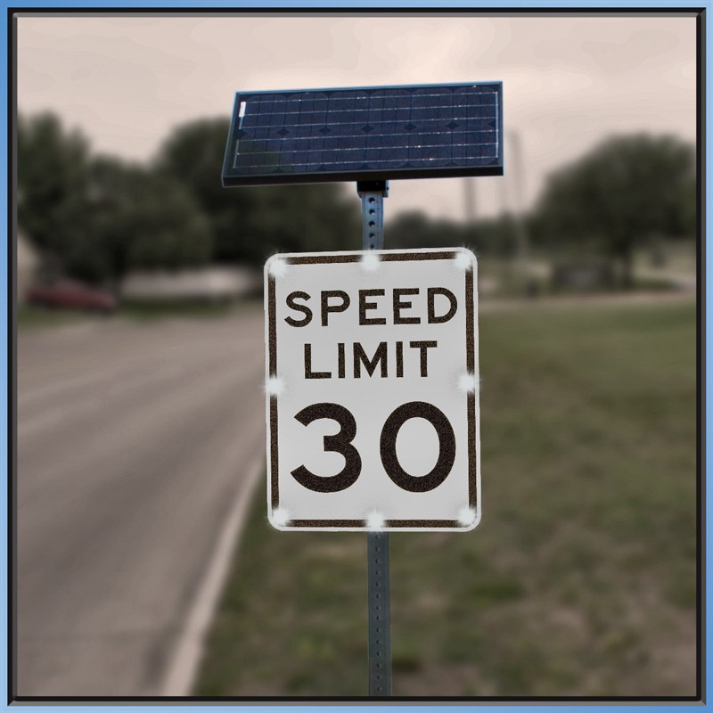 LED Enhanced Speed Sign