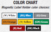 magnetic label color chart