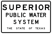 public water system sign