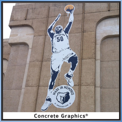 Memphis Grizzlies Basketball on Concrete Graphics