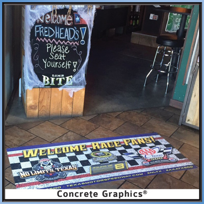 Texas Motor Speedway promotion with Concrete Graphics