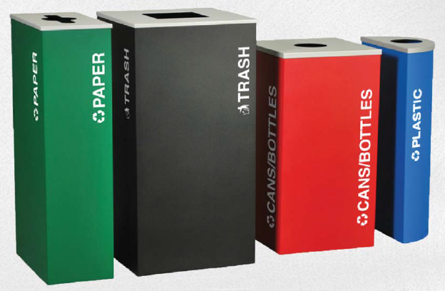 steel recycling receptacles