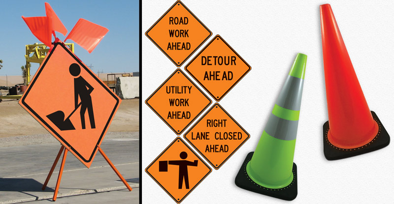 Road Safety Signs and Cones